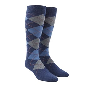 Light Blue Argyle mens socks
