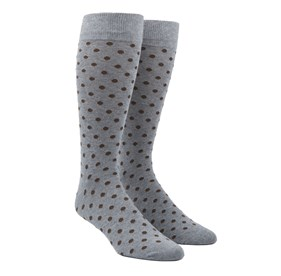 Chocolate Brown Circuit Dots mens socks