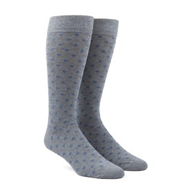 Slate Blue Circuit Dots mens socks