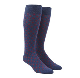Red Circuit Dots mens socks