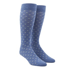 Blue Circuit Dots mens socks