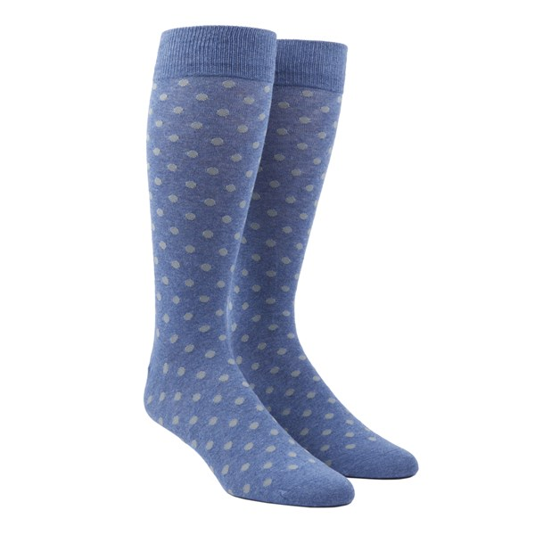 Blue Circuit Dots Socks