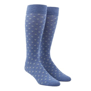 Circuit Dots Blue Dress Socks