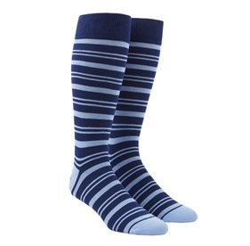 Light Blue Path Stripe mens socks