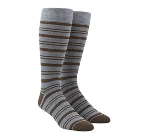 Brown Path Stripe mens socks