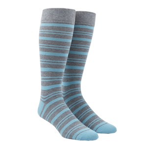 path stripe aqua dress socks