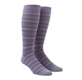 Lavender Path Stripe mens socks
