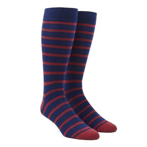 trad stripe red dress socks