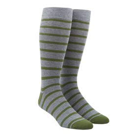 Green Trad Stripe mens socks