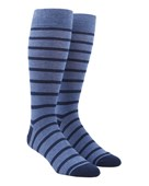 Trad Stripe - Blues - Men's Shoe Size 7-12 - Socks