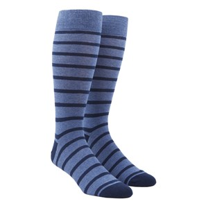 trad stripe blues dress socks
