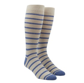 Khaki Trad Stripe mens socks