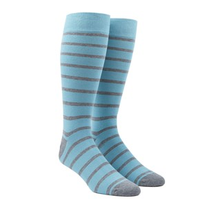 trad stripe aqua dress socks