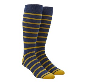 Yellow Trad Stripe mens socks