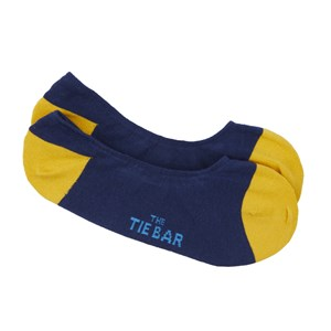 accent solid no-show yellow dress socks
