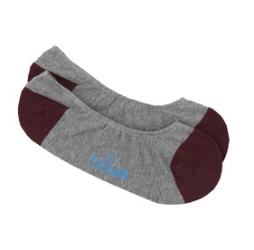 Burgundy Accent Solid mens socks