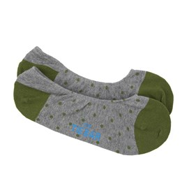 Clover Green Polka Dot No-Show mens socks