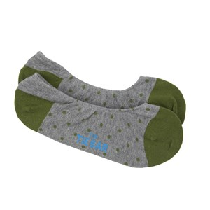 polka dot no-show clover green dress socks