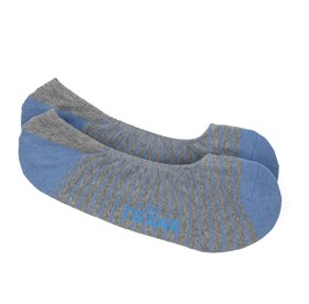 Slate Blue Pencil Stripe No-Show mens socks