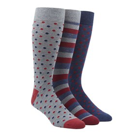 Red The Red Sock Pack mens socks