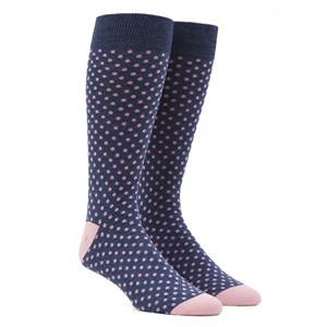 pindot pink dress socks