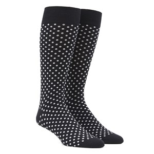 pindot black dress socks