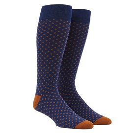Copper Pindot mens socks