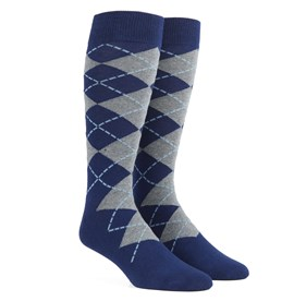 Navy New Argyle mens socks