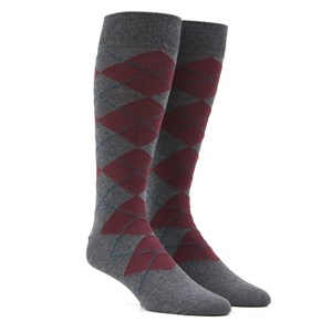 new argyle burgundy dress socks