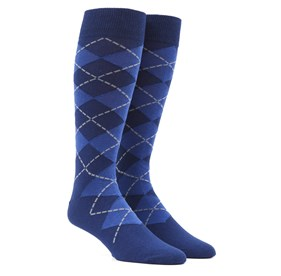 New Argyle Blue Men's Socks