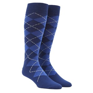 new argyle blue dress socks