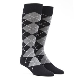Black New Argyle mens socks
