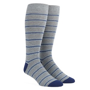 rival stripe navy dress socks