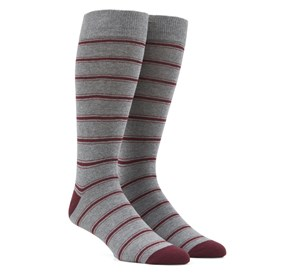 Grey Rival Stripe mens socks