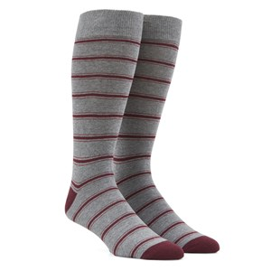 rival stripe grey dress socks