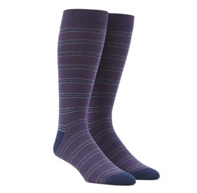 Purple Rival Stripe mens socks