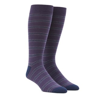 Rival Stripe Purple Dress Socks