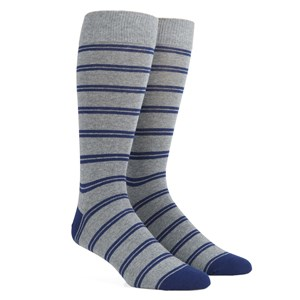 center field stripe navy dress socks