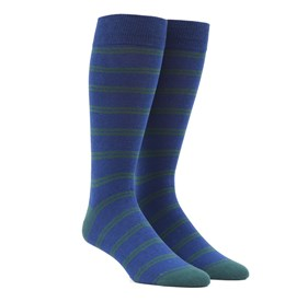 Center Field Stripe Hunter Green Men's Socks