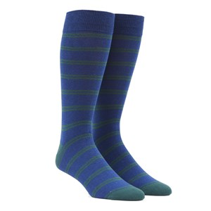 center field stripe hunter green dress socks
