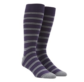 Purple Center Field Stripe mens socks