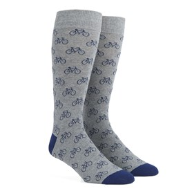 Navy Bicycle mens socks