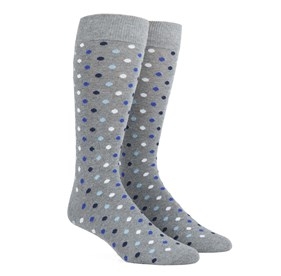 Royal Blue Spree Dots mens socks