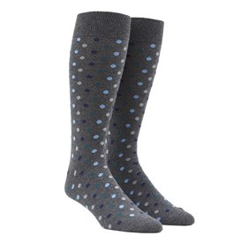 Hunter Green Spree Dots mens socks