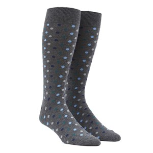 spree dots hunter green dress socks