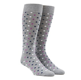 Green Teal Spree Dots mens socks