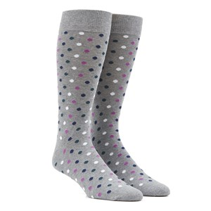 spree dots green teal dress socks
