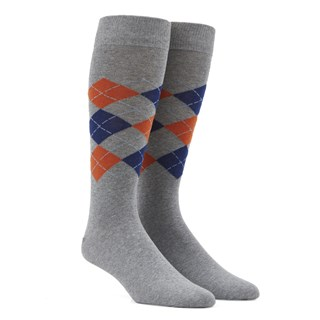 panel argyle navy dress socks