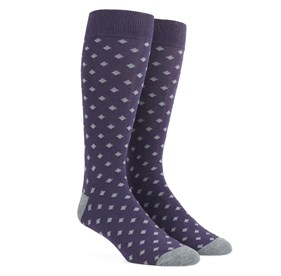Diamonds Eggplant Men's Socks