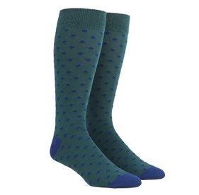 Diamonds Hunter Green Men's Socks